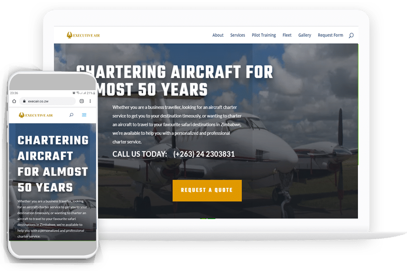 executive air home page